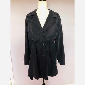 BB Dakota Navy blue double breasted trench coat
